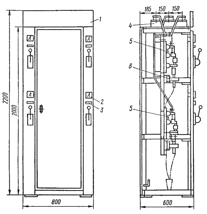 Схема установки рубильника рпс